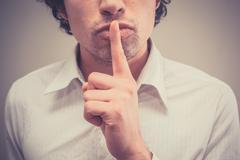 Hush - stock photo