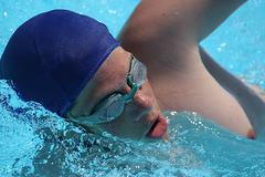 Close-up of swimmer in water Kuvituskuvat