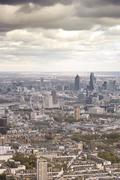 United Kingdom, England, London, Aerial view of city - stock photo