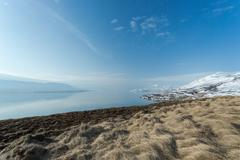 Iceland, Eyjafjordur, View of majestic landscape - stock photo