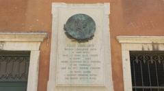 Memorial to Felice Cavallotti in Venice Stock Footage