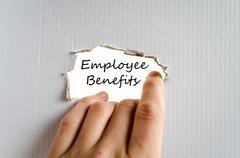 Employee benefits text concept - stock photo