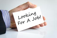 Looking for a job text concept - stock photo