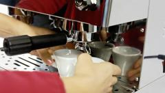 Coffee machine cups scented Stock Footage