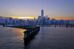 USA, New York State, New York City, City at sunrise Kuvituskuvat