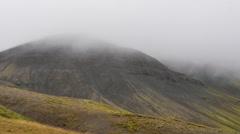 ICELAND mountain Berg Sandkluftavatn mist Nebel Stock Footage