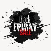 black friday sale grunge style label - stock illustration
