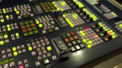 Broadcast Tv Studio Production - Vision Switcher, Broadcast video mixer- Pan Lef Stock Footage