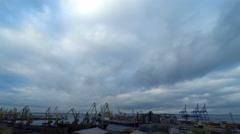 Sea Trading Port Activity. - stock footage