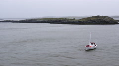 ICELAND Boat Boot anchor ankern - stock footage
