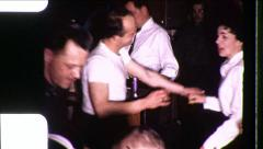 Wild DANCE PARTY People DANCING 1960s Vintage Retro Film Home Movie 8565 Stock Footage