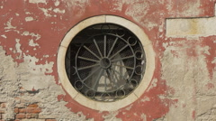 Small rosette on a building in Venice Stock Footage