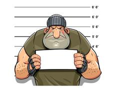 Stock Illustration of Angry criminal man