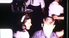 FAMILY DANCE PARTY! Kids Adults Dancing 1960s Vintage Film Home Movie 8566 - stock footage