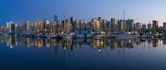 Stock Photo of Canada, British Columbia, Vancouver, View of cityscape at sunrise