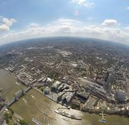 United Kingdom, England, London, Aerial view of Pool of London Stock Photos