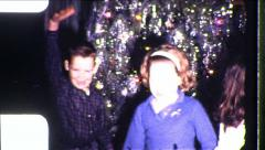 HAPPY Kids Go Nuts! DANCE PARTY DANCING Xmas 1960s Vintage Film Home Movie 8567 - stock footage