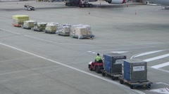 Airport cargo truck Stock Footage