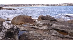 Sydney Bondi beach and bay area Stock Footage