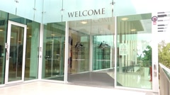 Royal australian mint currency museum entrance Stock Footage