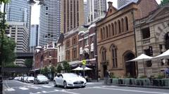 Sydney The Rocks district Stock Footage