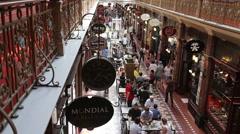 Sydney strand arcade shopping mall Stock Footage