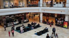Sydney westfield shopping centre interior Stock Footage