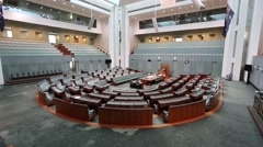 Canberra parliament house interior Stock Footage