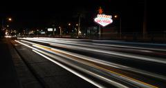 Welcome to Las Vegas Sign Boulevard Strip Roadside Attraction - stock photo