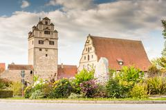 Medieval Watch Tower in Dinkelsbuehl Stock Photos