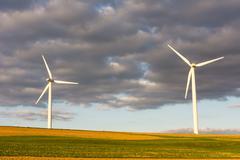 Alternative Energy with wind power Stock Photos