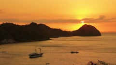 Sunset in Labuan Bajo Stock Footage