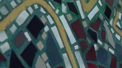Mirror ceramic mosaic wall Stock Footage