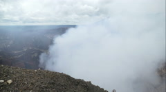 Looking in the crater of  the Masaya vulcano, time lapse Stock Footage