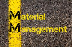 Business Acronym MM as Material Management - stock photo