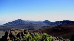 Scenic view, Haleakala summit, Maui, Hawaii Stock Footage
