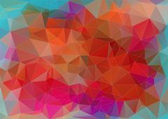 Triangle abstract flat colorful background - stock illustration