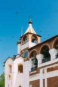 Belfry in Monastery of Saint Euthymius in Suzdal, Russia Stock Photos