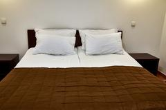 Double bed Stock Photos