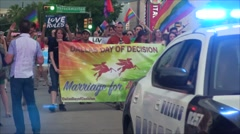 Marriage Equality Parade Stock Footage