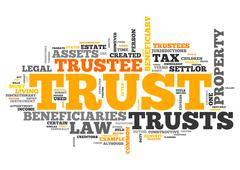 Wordcloud Trust Stock Illustration