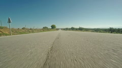 Road by Air in Vinhais, Portugal, with Olive Trees Stock Footage