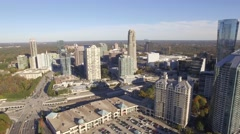 Aerial Shot of Skyscrapers located in Buckhead, GA Stock Footage