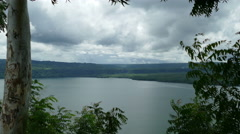 View over lake Masaya and vulcano Stock Footage