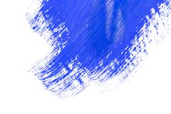 blue stroke of the paint brush - stock photo
