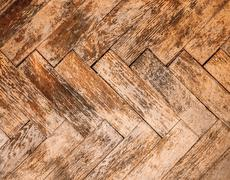 Vintage parquet floor - stock photo