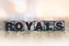 Stock Photo of Royals Concept Vintage Letterpress Type