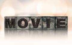 Movie Concept Vintage Letterpress Type Kuvituskuvat