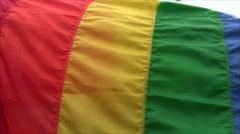 Wrapped in Pride Flag - stock footage