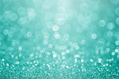 Teal Turquoise Green Glitter Sparkle Background Stock Photos